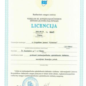 Licencija Nr. 0665