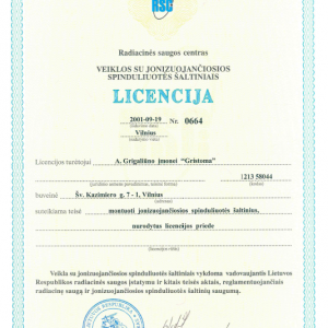 Licencija Nr. 0664