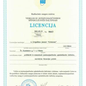 Licencija Nr. 0663