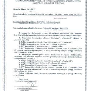 Licencija Nr. 0664 Priedas
