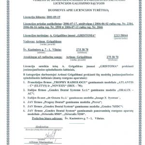Licencija Nr. 0665 Priedas